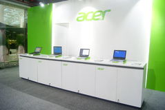Shenzhen, China: computer mobile phone sales exhibition Royalty Free Stock Photography