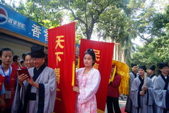 Shenzhen china: confucius cultural festival held Royalty Free Stock Photo