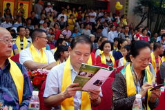 Shenzhen china: confucius cultural festival held Stock Image