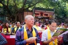 Shenzhen china: confucius cultural festival held Royalty Free Stock Photos