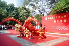 Shenzhen china: confucius cultural festival held Royalty Free Stock Image