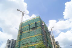Shenzhen, China: in the construction of buildings Stock Photo