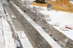 Shenzhen, China: Construction of the drainage gou Stock Images