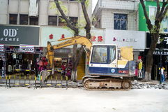 Shenzhen, China: Construction of the drainage gou Royalty Free Stock Photos