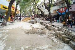Shenzhen, China: Construction of the drainage gou Stock Photography