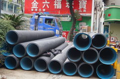 Shenzhen, China: Construction of the drainage gou Royalty Free Stock Images