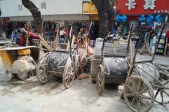 Shenzhen, China: Construction of the drainage gou Stock Photo