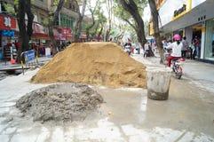 Shenzhen, China: Construction of the drainage gou Royalty Free Stock Photos