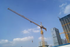 Shenzhen, China: construction site landscape Royalty Free Stock Photography