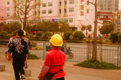 Shenzhen, China: construction workers Royalty Free Stock Photography