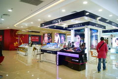 Shenzhen china: cosmetics counters Stock Photo