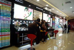 Shenzhen china: cosmetics counters Stock Photography