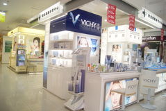 Shenzhen, China: cosmetics counters Stock Image