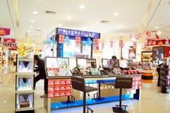 Shenzhen, China: cosmetics counters Stock Image