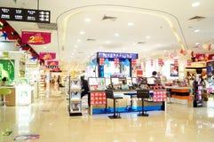 Shenzhen, China: cosmetics counters Stock Photos