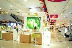 Shenzhen, China: cosmetics counters Royalty Free Stock Photography