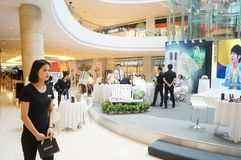 Shenzhen, China: cosmetics sales promotion activities Royalty Free Stock Photo