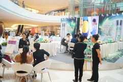Shenzhen, China: cosmetics sales promotion activities Royalty Free Stock Image