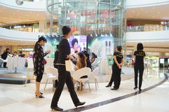 Shenzhen, China: cosmetics sales promotion activities Royalty Free Stock Photos