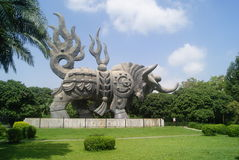 Shenzhen, China: cow statue Stock Images
