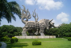 Shenzhen, China: cow statue Stock Photography