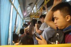 Shenzhen, China: crowded bus Stock Photos