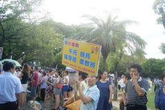Shenzhen, China: crowded pupils Royalty Free Stock Photography