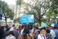Shenzhen, China: crowded pupils Stock Photos