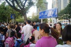 Shenzhen, China: crowded pupils Royalty Free Stock Photo