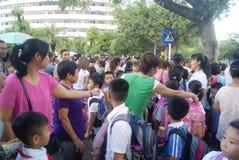 Shenzhen, China: crowded pupils Royalty Free Stock Images