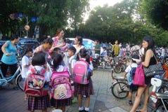 Shenzhen, China: crowded pupils Stock Images