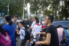 Shenzhen, China: crowded pupils Stock Photography