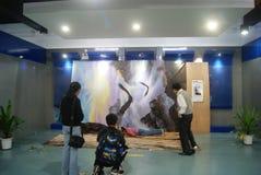 Shenzhen, China: 3D beeldtentoonstelling Stock Afbeeldingen