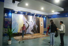 Shenzhen, China: 3D beeldtentoonstelling Royalty-vrije Stock Afbeeldingen