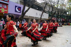 Shenzhen china: dance performance Stock Photography