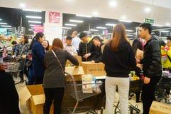 Shenzhen, China: De bevorderingen van de EEUWIGHEIDsupermarkt Stock Foto