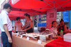 Shenzhen, China: de bevorderingsactiviteiten van het cakemerk Royalty-vrije Stock Foto
