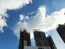 Shenzhen, China: de bouw en voltooiing van woningbouw royalty-vrije stock foto's