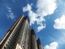 Shenzhen, China: de bouw en voltooiing van woningbouw royalty-vrije stock afbeeldingen