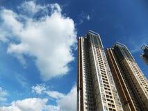 Shenzhen, China: de bouw en voltooiing van woningbouw royalty-vrije stock fotografie