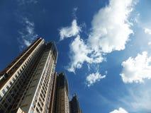 Shenzhen, China: de bouw en voltooiing van woningbouw stock foto's