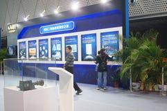 Shenzhen, China: De Chinese Maanactiviteiten van de de Voorlichtingsweek van de Onderzoeksprogrammawetenschap stock fotografie