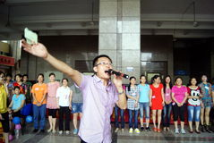 Shenzhen China: de dagactiviteit van de moeder Royalty-vrije Stock Foto's