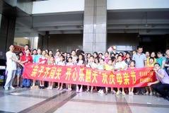Shenzhen China: de dagactiviteit van de moeder Royalty-vrije Stock Foto