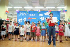 Shenzhen China: de dagactiviteit van kinderen stock foto's
