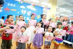 Shenzhen China: de dagactiviteit van kinderen Royalty-vrije Stock Foto