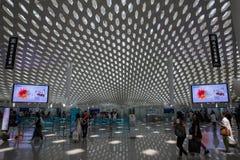 Shenzhen, China - 11 de septiembre de 2016: Aeropuerto internacional de Bao'an Imágenes de archivo libres de regalías