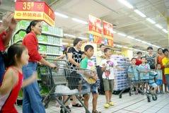Shenzhen China: de spelen van de familiepret Royalty-vrije Stock Afbeelding