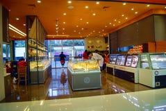 Shenzhen China: de winkel van de broodcake Stock Fotografie