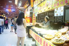 Shenzhen, China: delicious food street landscape Royalty Free Stock Image